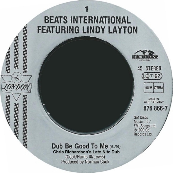 Beats International feat Lindy Layton Dub Be Good To Me - Chris Richardson's Late Night Dub