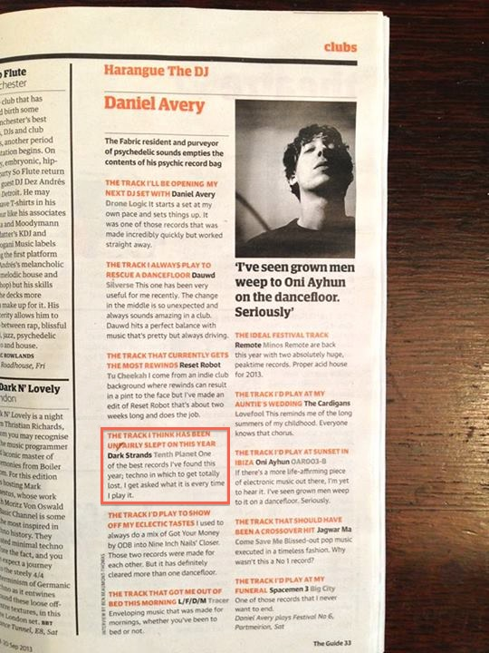Daniel Avery - Harrangue The DJ - Guardian Music